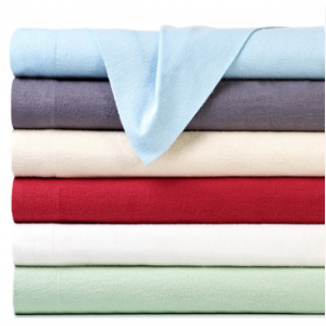 4-Piece Set: Bibb Home 100% Cotton Solid Flannel Sheets - Assorted Colors