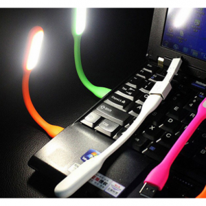 USB-Connected Bendable Flashlight for Laptops - Assorted Colors