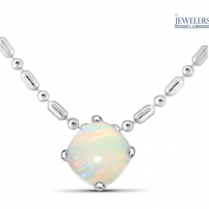 2-Piece Set: 2ctw Cushion-Cut Created Opal Pendant Necklace & Earrings