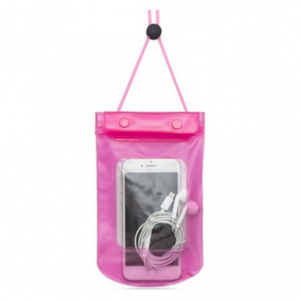 Stay Clean & Dry Waterproof See-Through Phone Pouch Pink