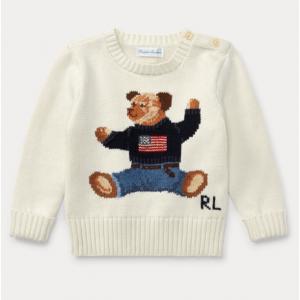 BABY BOY Polo Bear Cotton Sweater
