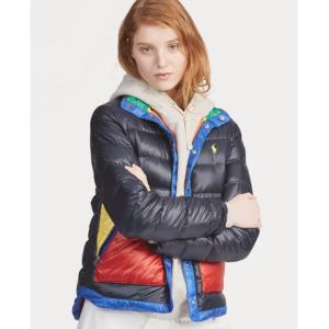 POLO RALPH LAUREN Color-Blocked Down Jacket