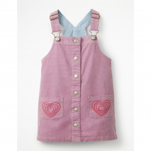 BUTTON-FRONT OVERALL DRESS