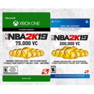 25% OFF NBA 2K19 Virtual Currency @GameStop