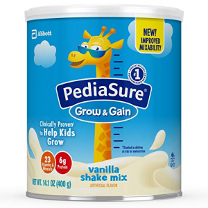 20% off PediaSure Grow & Gain Non-GMO Vanilla Shake Mix Powder, Nutrition Shake for Kids @ Amazon
