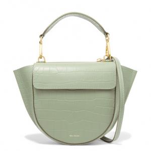 WANDLER Hortensia mini croc-effect leather shoulder bag