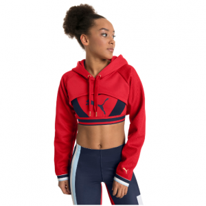 Varsity Cropped Cover-up Women's Hoodie