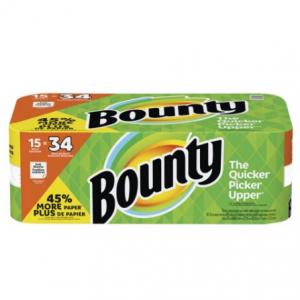 Bounty Paper Towels (15 Gigantic Rolls)