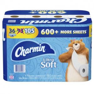 Charmin Ultra Soft Toilet Paper (208 sheets per roll, 36 Super Rolls)