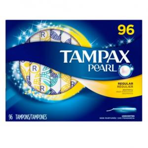 Tampax Pearl Unscented Tampons, Regular (96 ct.)
