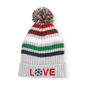 EV1 from Ellen DeGeneres  Women's Striped Ribbed Knit Cuffed Hat for $4.99 (was $8)