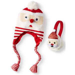 Holiday Time Festive Santa Hat and Earwarmer 2-Piece Set for $5.99 (was $13.99)