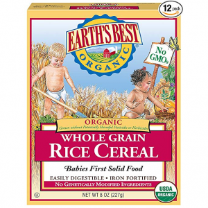 Earth's Best Organic Infant Cereal, Whole Grain Rice, 8 oz. Box (Pack of 12) @ Amazon