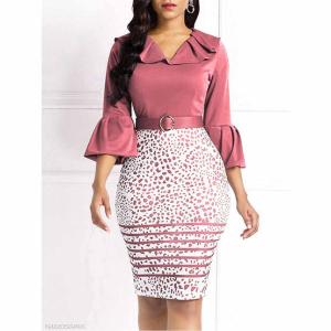 Fashionmia V领裹身裙