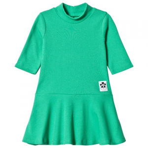 Mini Rodini Green Solid Rib Dance Dress