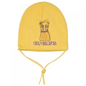 Mini Rodini Yellow Cat Campus Patch Hat