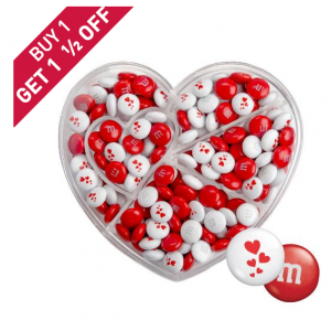 Heart Shaped Candy Box with Red & White M&M'S®