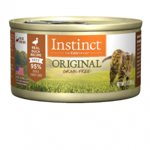 Instinct Original Grain Free Real Duck Recipe Natural Wet Canned Cat Food by Nature's Variety, 3 o