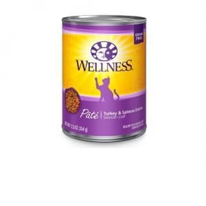 Wellness Complete Health Grain-Free Turkey & Salmon Formula Wet Cat Food, 12.5 oz (Pack of 12)
