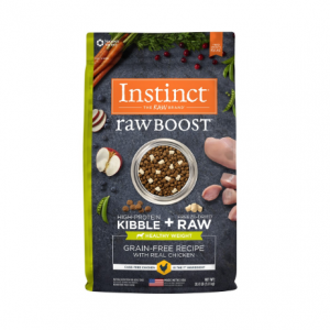 Instinct Raw Boost Healthy Weight Grain Free Recipe with Real Chicken Natural Dry Dog Food by Natu