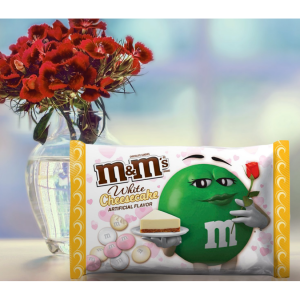 M&M's, Valenetine's Day White Cheesecake Chocolate Candy, 8 Oz