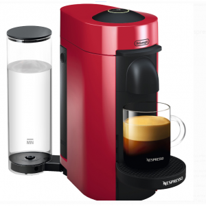 Nespresso VertuoPlus Coffee and Espresso Maker by De'Longhi, Cherry Red