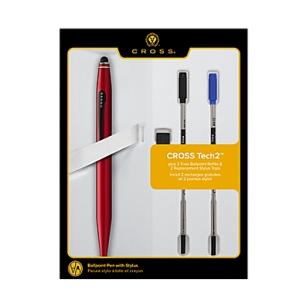 Tech 2 Red Ballpoint Pen with 2 Bonus Refills