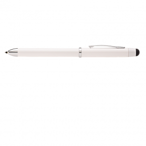 Tech3 Pearl White Multi-Function Pen with Refills and Cleaning Cloth