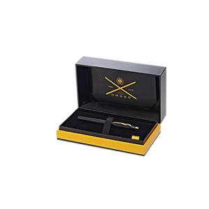 Classic Century Classic Black and 23KT Gold-Plate Fountain Pen and Ink Bottle Gift Set
