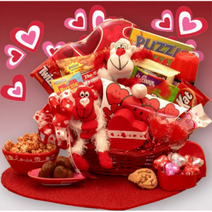 A Little Monkey Business Kids Valentines Gift Basket