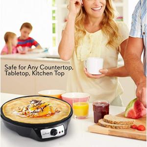 NutriChef 12英寸攤煎餅神器包括木製推杆 @ Amazon