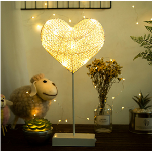 Star And Heart LED Lamp