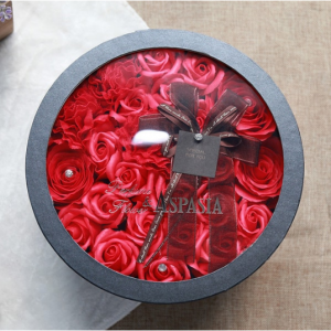Faux Rose Flowers with Gift Box Fragrant Petals