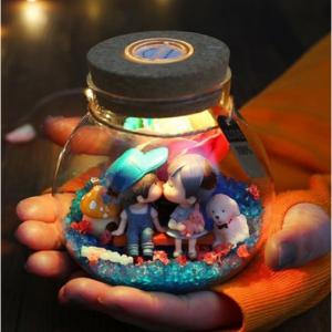 DIY Love Light Jar Romantic LED Illumination
