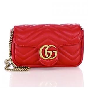 Gucci GG Marmont Matelassé Leather Mini Chain Camera Bag