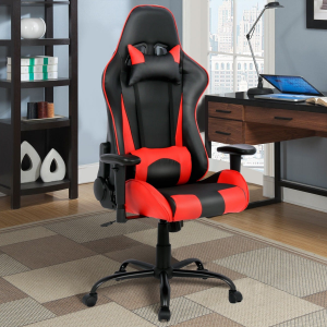 High Back Gaming Chair w/ Lumbar Support and Headrest