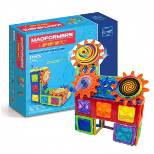 Magformers Magnets in Motion Set (37-pieces) Magnetic Building Blocks, Educational Magnetic Tiles