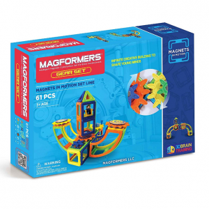 Magformers Magnets in Motion Gear (61-pieces) Magnetic Building Blocks, Educational Magnetic Tiles