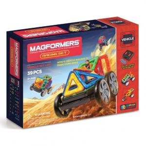 Magformers Vehicle Racing Set (39-pieces) Magnetic Building Blocks, Educational Magnetic Tiles Kit