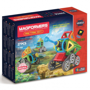Magformers Mini Tank Set (27 Piece) Magnetic Building Blocks, Educational Magnetic Tiles Kit , Mag