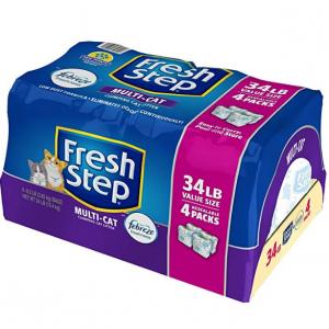 $5.26 off 34-lbs Fresh Step Multi-Cat Clumping Cat Litter (Febreze Scent) @ Amazon