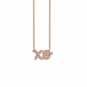 "Sydney Evan ""XO"" Necklace"