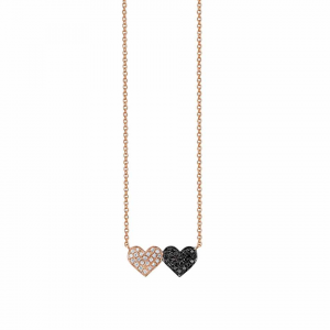 Sydney Evan Medium Double Heart Necklace
