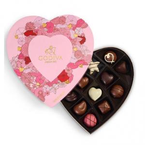 Godiva 14-Pc. Assorted Chocolates Heart Gift Box