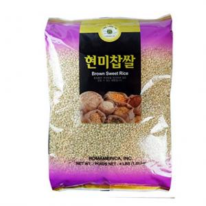 ROM AMERICA (4 Pound) Brown Sweet Rice Sticky Rice Glutinous Rice