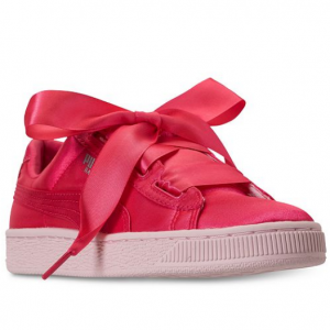 Puma Big Girls' Basket Heart Tween Jr Casual Sneakers from Finish Line
