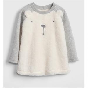 Sherpa Bear Sweatshirt Dress