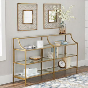 Better Homes & Gardens Nola Console Table, Gold Finish