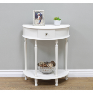 Home Craft Console Table, White