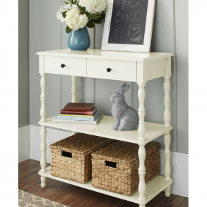 Better Homes & Gardens Adriana Console Table, Multiple Colors, white